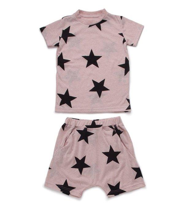 Kids Nununu Short Star Loungewear - Pink