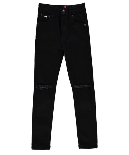 KIDS Beau Loves Skinny Jeans W/Ripped Knee - BLACK