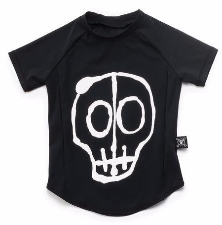 KIDS Nununu Skull Mask Rashguard - BLACK