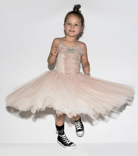KIDS Nununu Skull Patch Tutu Dress - Pink