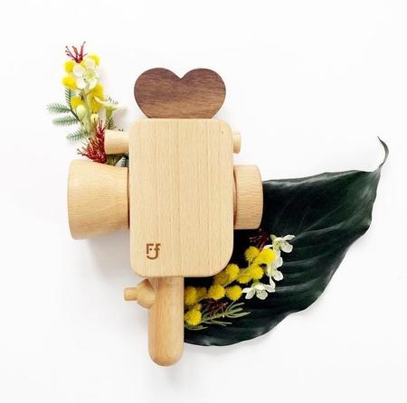 Kids Father's Factory Super 8 Wooden Toy Camera