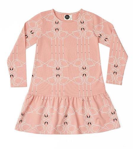 Kids MAINIO Swan Couple Dress - pink