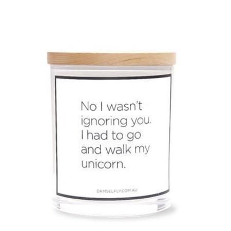 Damselfly Unicorn Candle