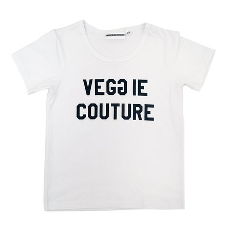 KIDS GARDNER AND THE GANG Veggie Couture Tee - WHITE