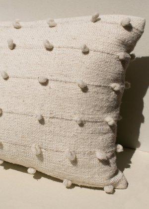Territory Lumbar Loops Pillow - Cream
