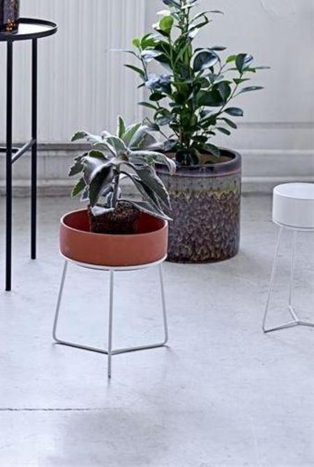 Bloomingville White Terracotta Flower Pot Set