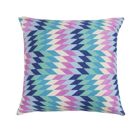 Archive New York Almolonga Diamond Pillow - Blue Multi