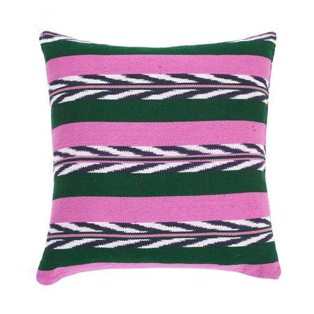 Archive New York Palm Ikat Pillow - MULTI