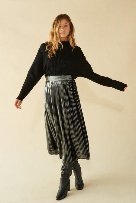 frankie. Pleated skirt - Silver