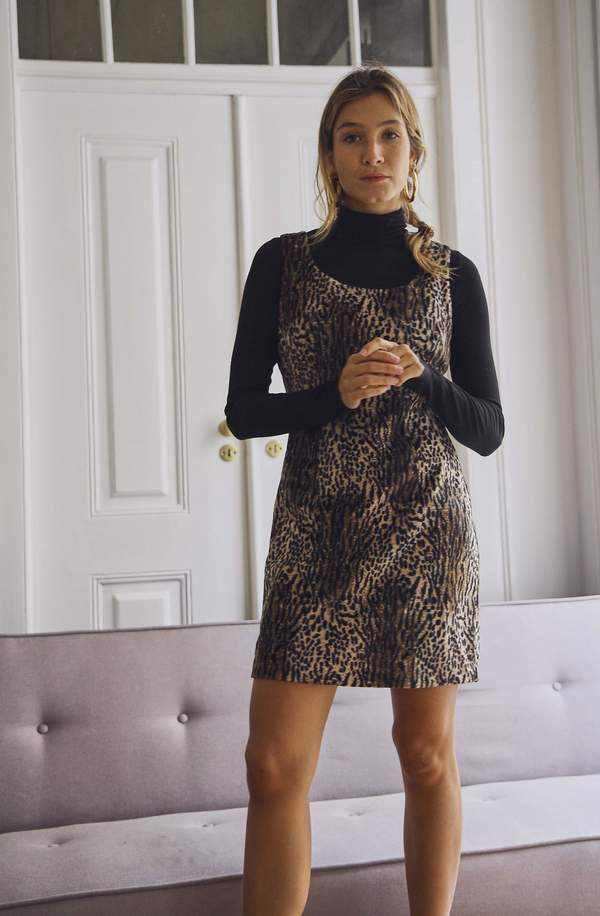 e37a3ede71 ... Shift Dress - Faux Animal Print. sold out. Bird On A Wire Vintage