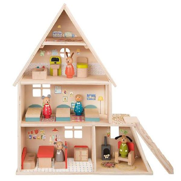 Kids Moulin Roty La Grande Famille Doll House With Furniture