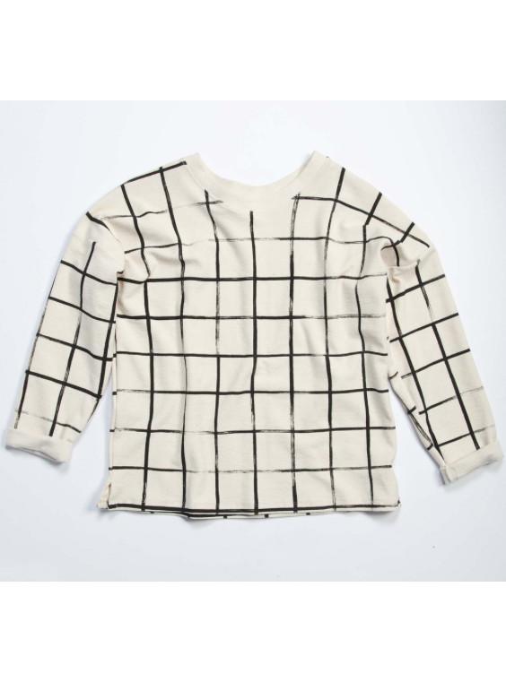 Make It Good Grid Canvas Sweatshirt