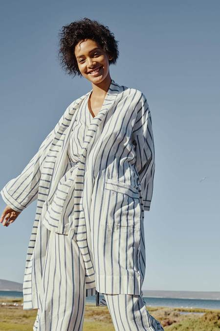 Karu Robe - Striped Ikat