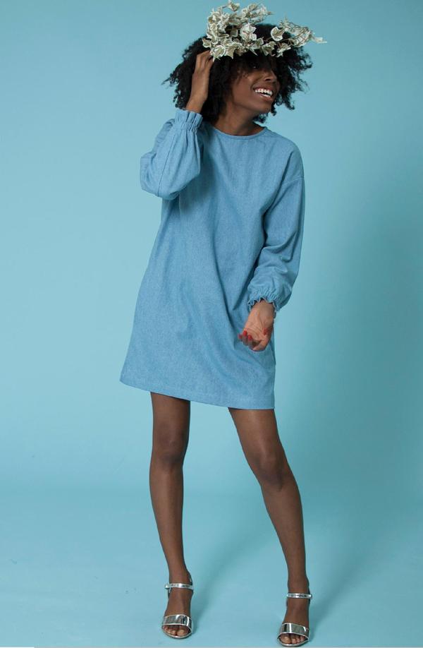 Plante Maiden Dress - Blue