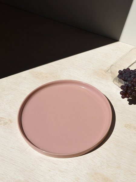 Merchant Home Set of 4 Large Straight Edge Plate - Gloss