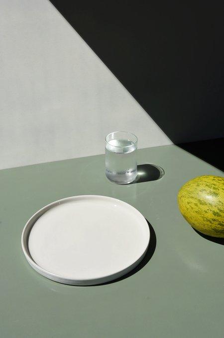 Merchant Home Set of 4 Large Straight Edge Plate - Powder