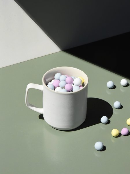 Merchant Home Set of 4 Modern Mug - Powder