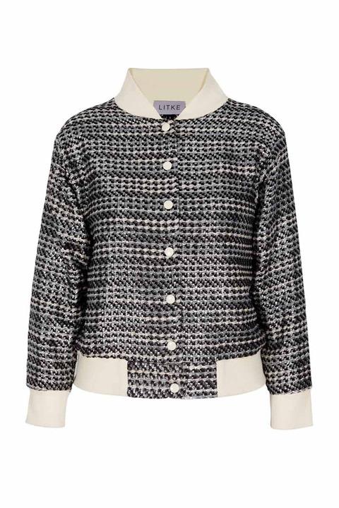 LITKE Embroidered Varsity Jacket