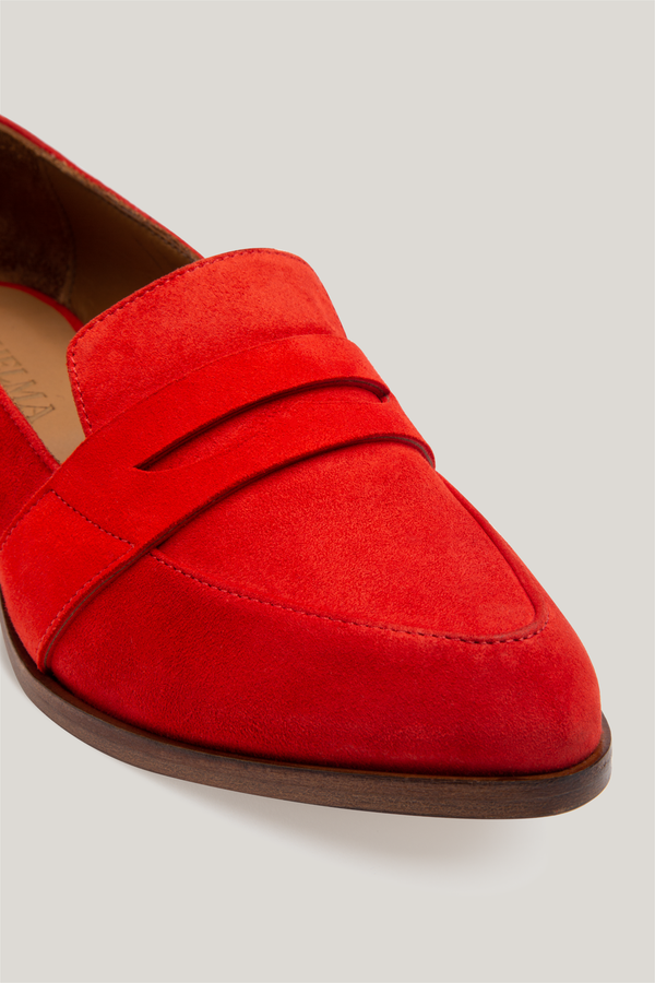 Thelma The Penny Loafer Flame Garmentory