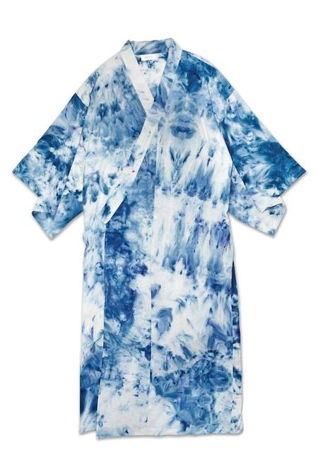 Unisex upstate Raw silk robe - Splash