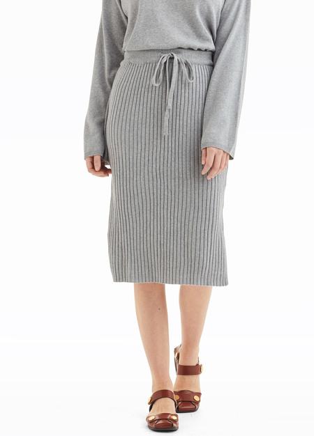 Kowtow Knitted Rib Skirt - Grey Marle