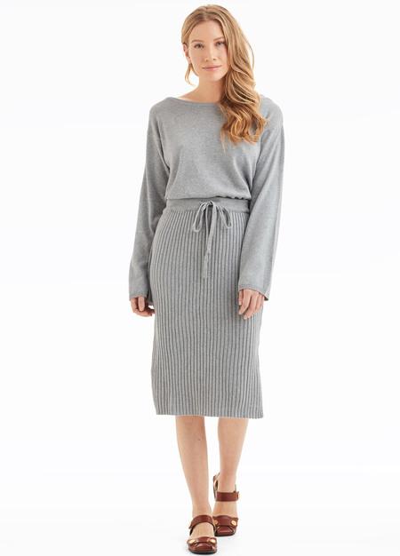 Kowtow Lakeside Sweater - Grey Marle