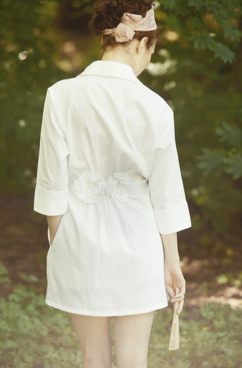 Salua Atelier Flannel Bouquet Robe