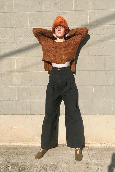 Atelier Delphine Luna Asymmetrical Cashmere Apaca sweater - Pure Amber