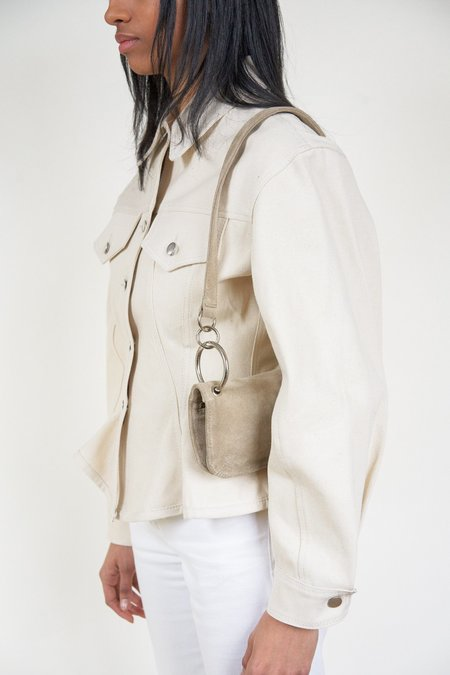 Clyde Mindy Suede Bag - Sand