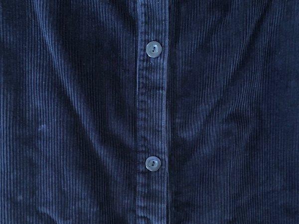 First Rite Corduroy Buttoned Skirt - Navy