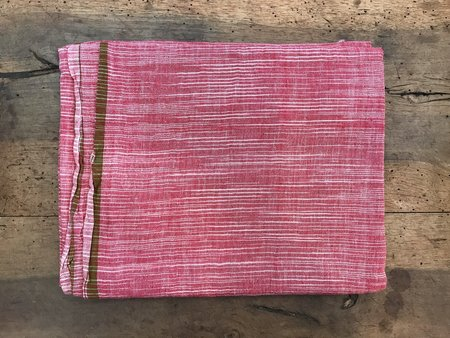 Auntie Oti Cotton Lungi Shawl - Red
