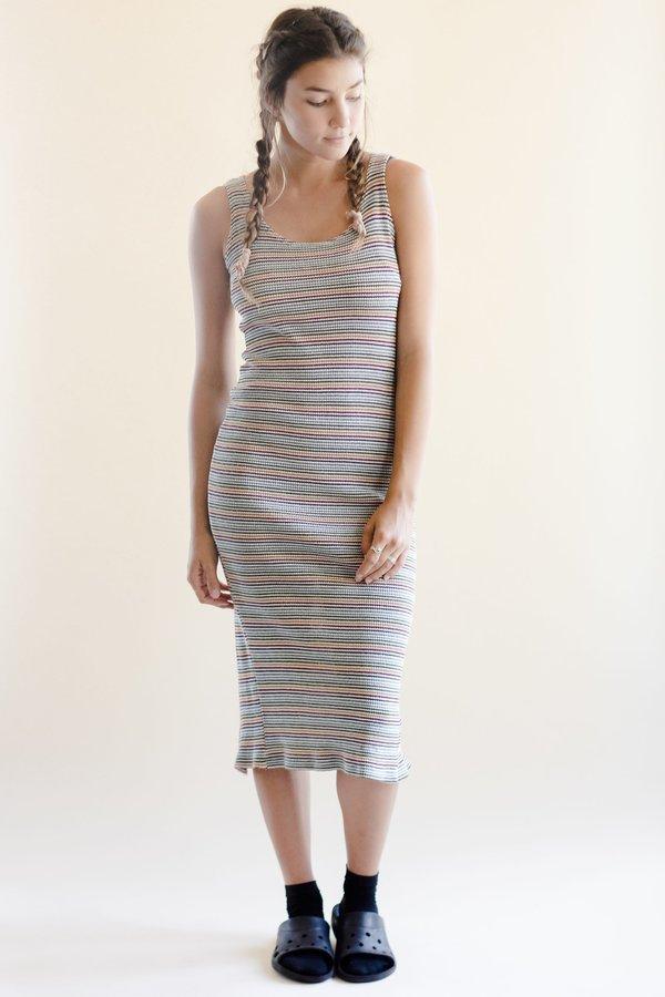 55843640f1 Vintage Devore Poole Rib Knit Dress - Stripe. sold out
