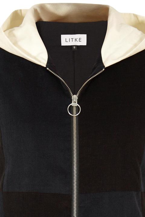 LITKE Color-Block Hooded Coat