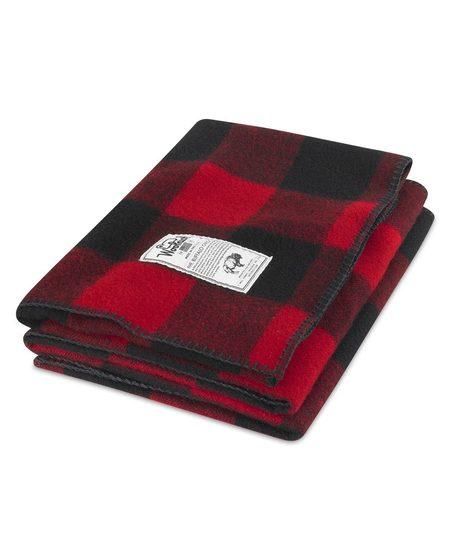"""Woolrich 50""""x60"""" Rough Rider Wool Blanket - Red"""