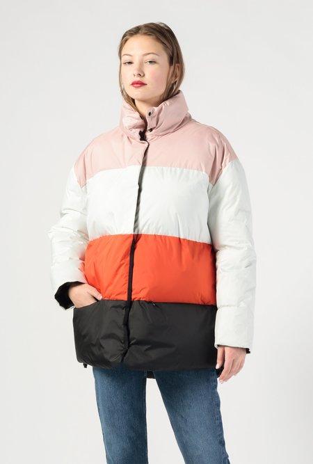 Biannual Color Block Puffer Jacket - multi