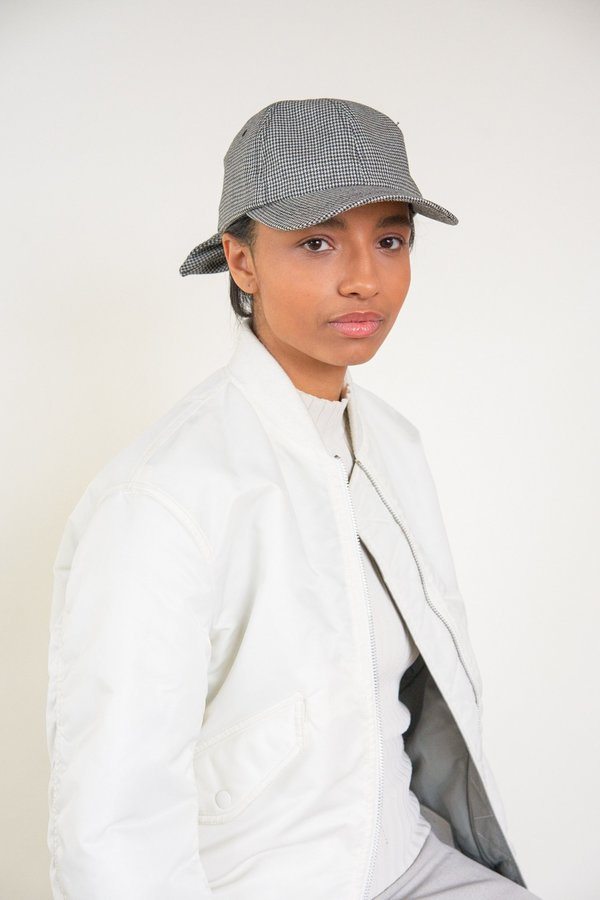 a609ac8d054 Clyde Tie Baseball Cap - Black White Houndstooth
