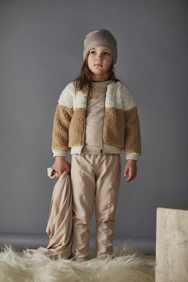 4b54e9a2d KIDS Bacabuche Sherpa Bomber Jacket - Milk/Natural on Garmentory