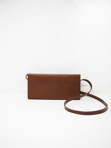Isaac Reina Pleated Box Shoulder Bag - Chestnut