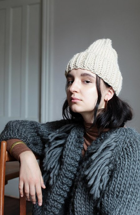 good night, day Elora toque in Peruvian highland wool hat