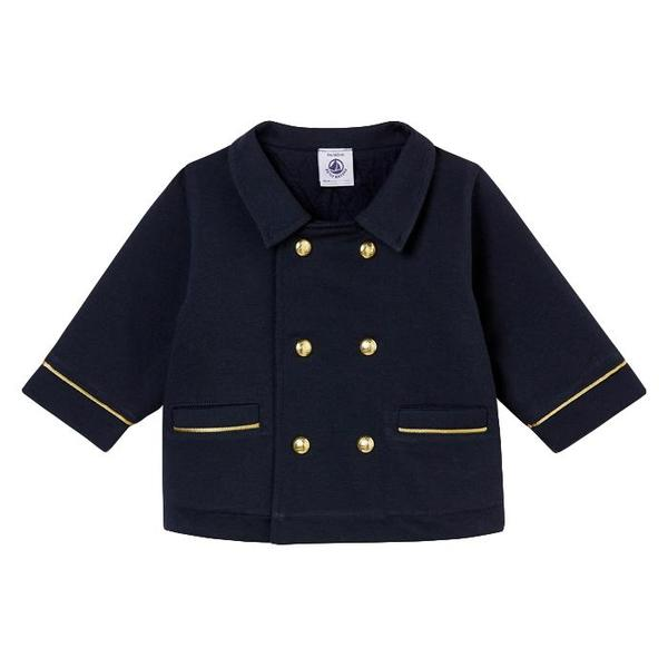 d39b8c93f KIDS Petit Bateau Baby Double Breasted Coat With Gold Buttons - Navy ...