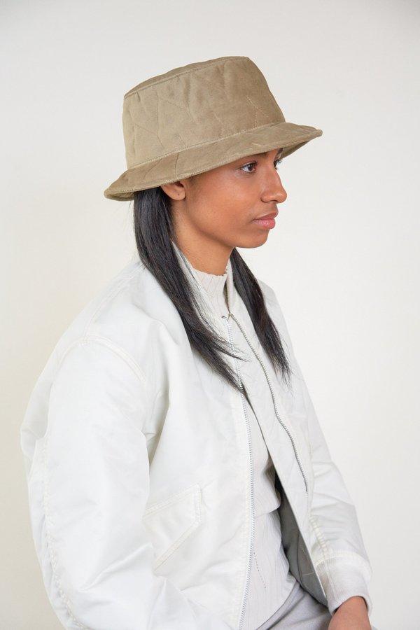 9d460e54a26 Clyde Puff Velour Bucket Hat - Tan