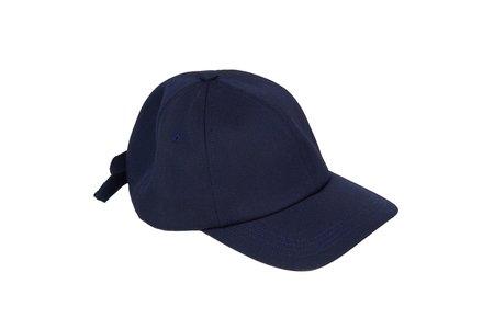 Clyde Tie Wool Baseball Cap - Navy
