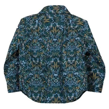 KIDS Hopper Hunter by 18 Waits Baby And Child The Hopper Long Sleeved Shirt - Winter Floral On Navy Blue