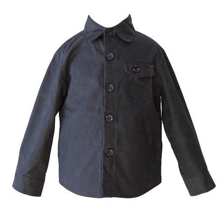 Kids 18 Waits Hopper Hunter The Weekender Waxed Cotton Jacket - Black