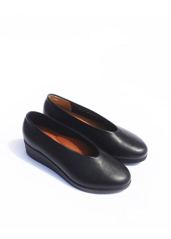 HOPP Wedge Slip on - Black Nappa
