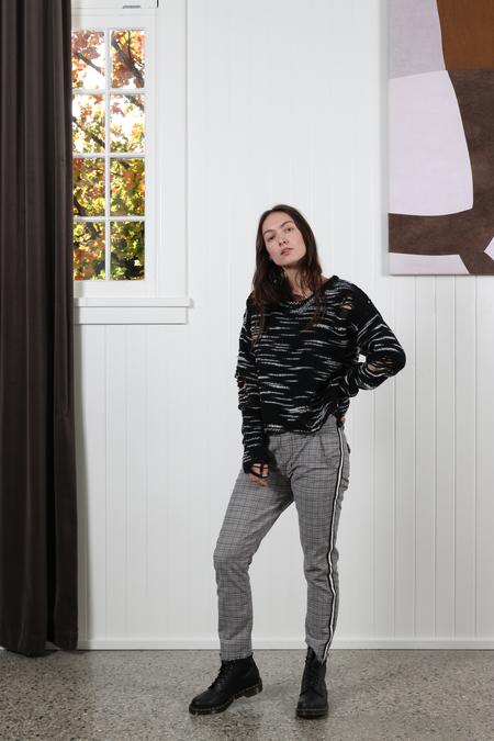 NSF Presley Sweater - Black/White