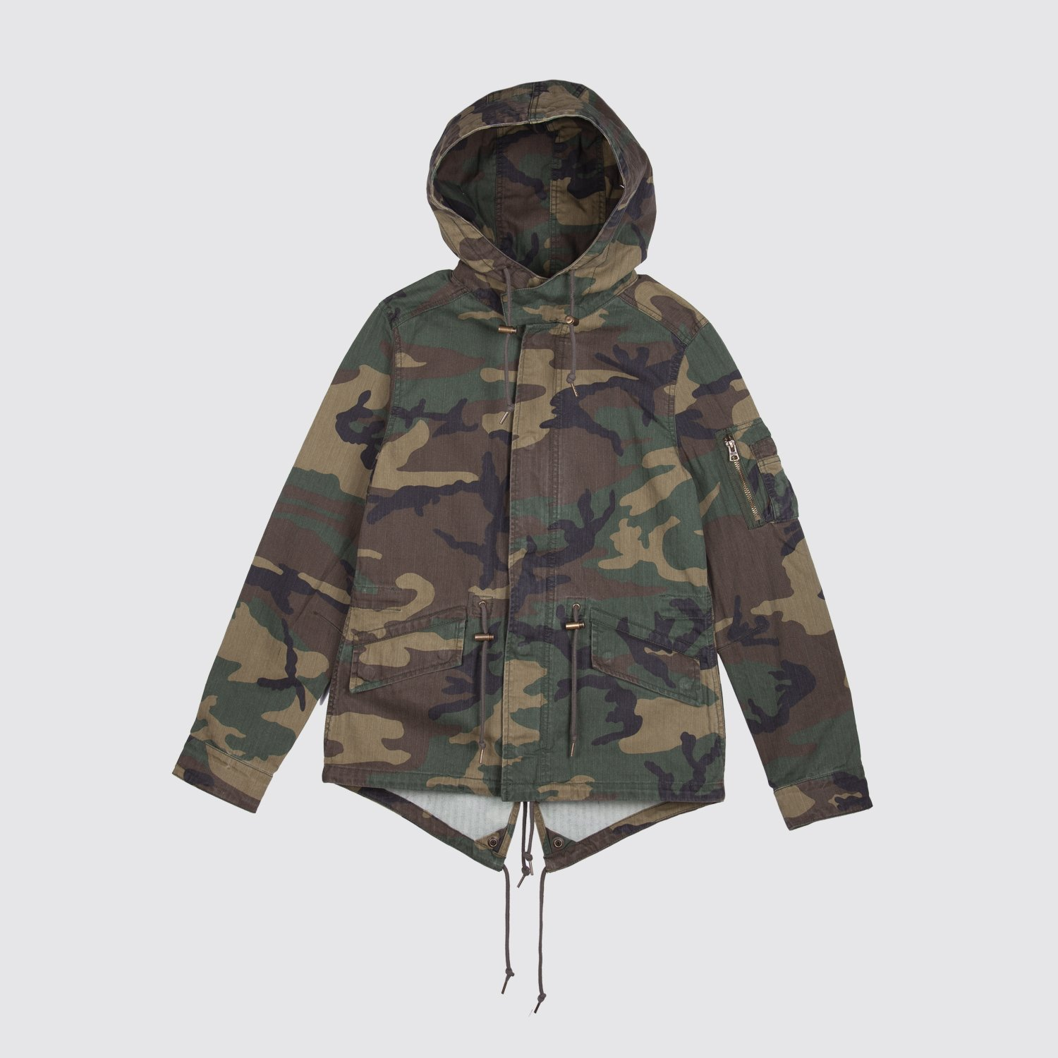 3b3d119dc8c697 ALPHA INDUSTRIES Swoop Fishtail Parka - Woodland Camo | Garmentory