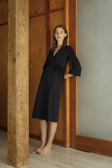 Old Petra Wrap Dress - black