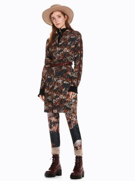 Maison Scotch Shirt Dress - Blossom Print