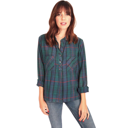 Cameo Clothing Brothers Flannel Top - BLUE